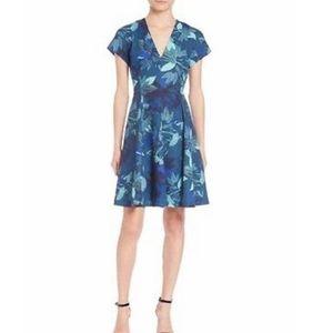 Rebecca Taylor Silk Tahitian Floral VNeck Dress